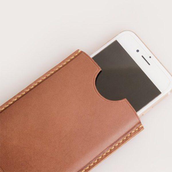 直立手機皮袋
